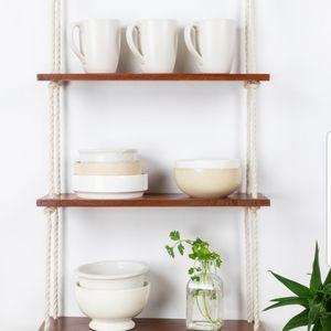 Cedar hanging shelf